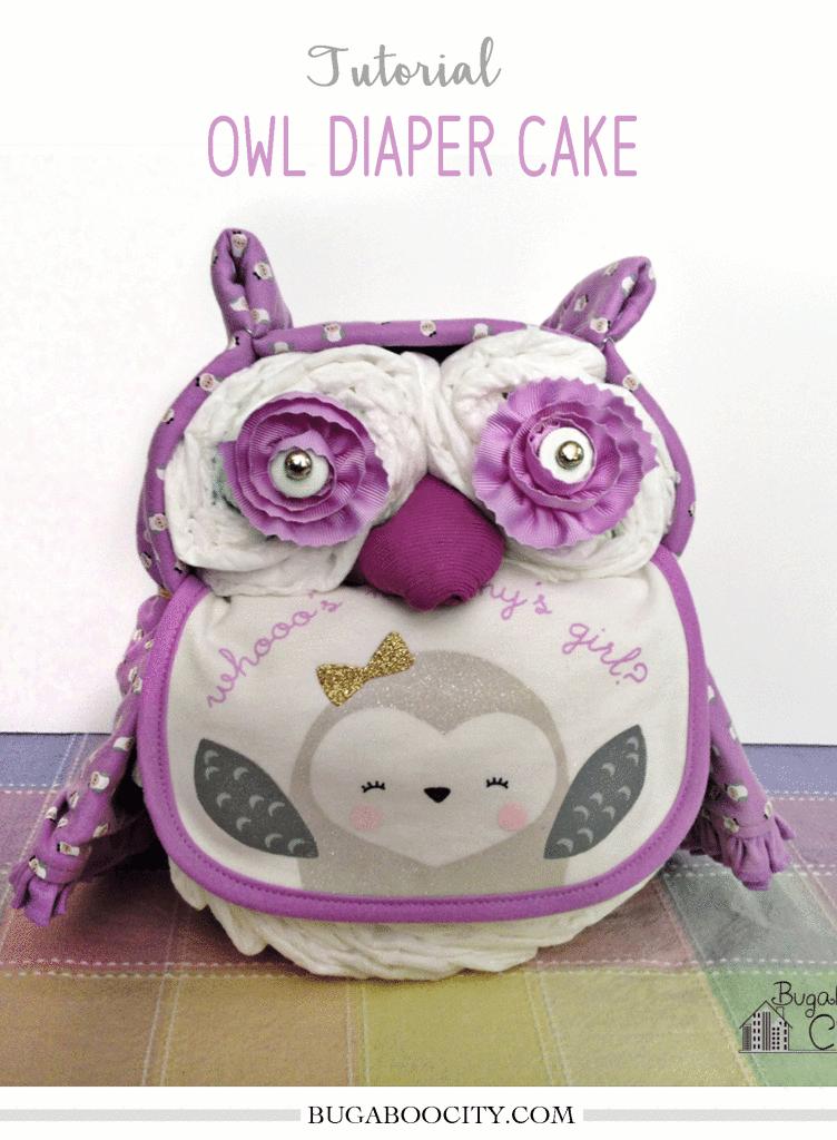 DIY Owl Diaper Cake Tutorial