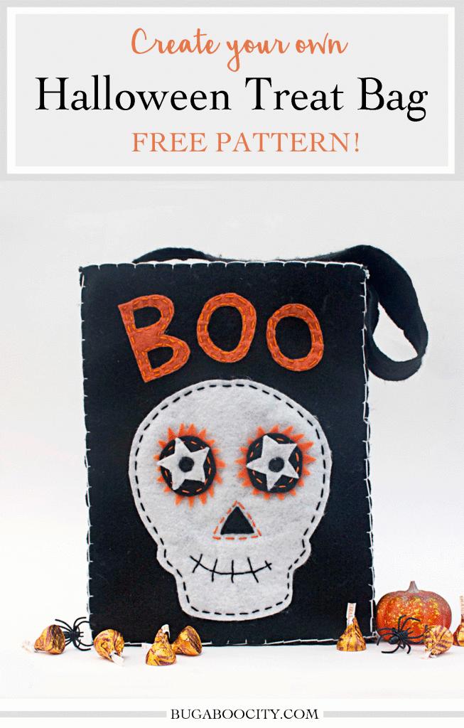 DIY Halloween Felt Treat Bag Tutorial
