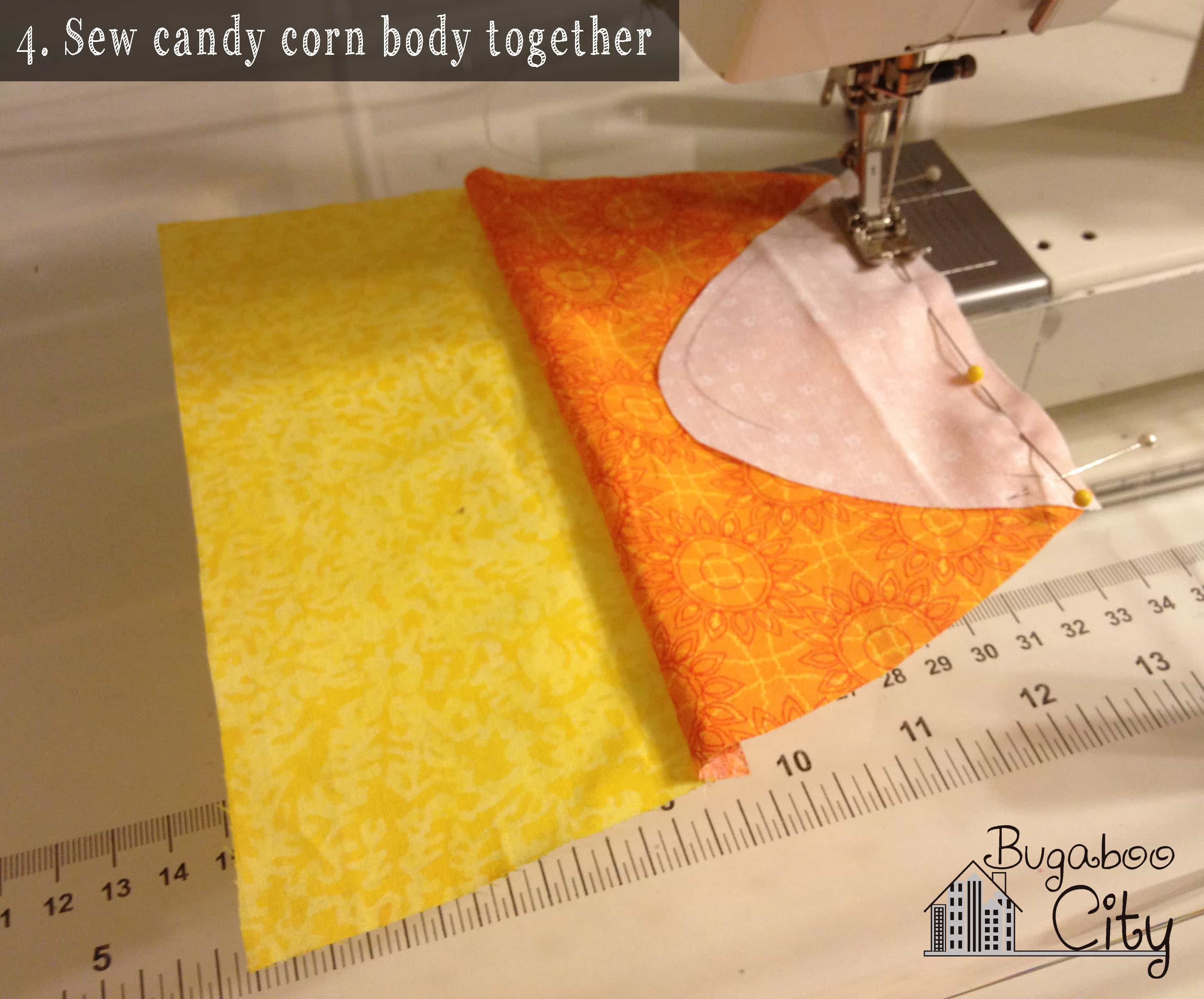 Step 4. Candy Corn Baby Toy Tutorial with free pattern