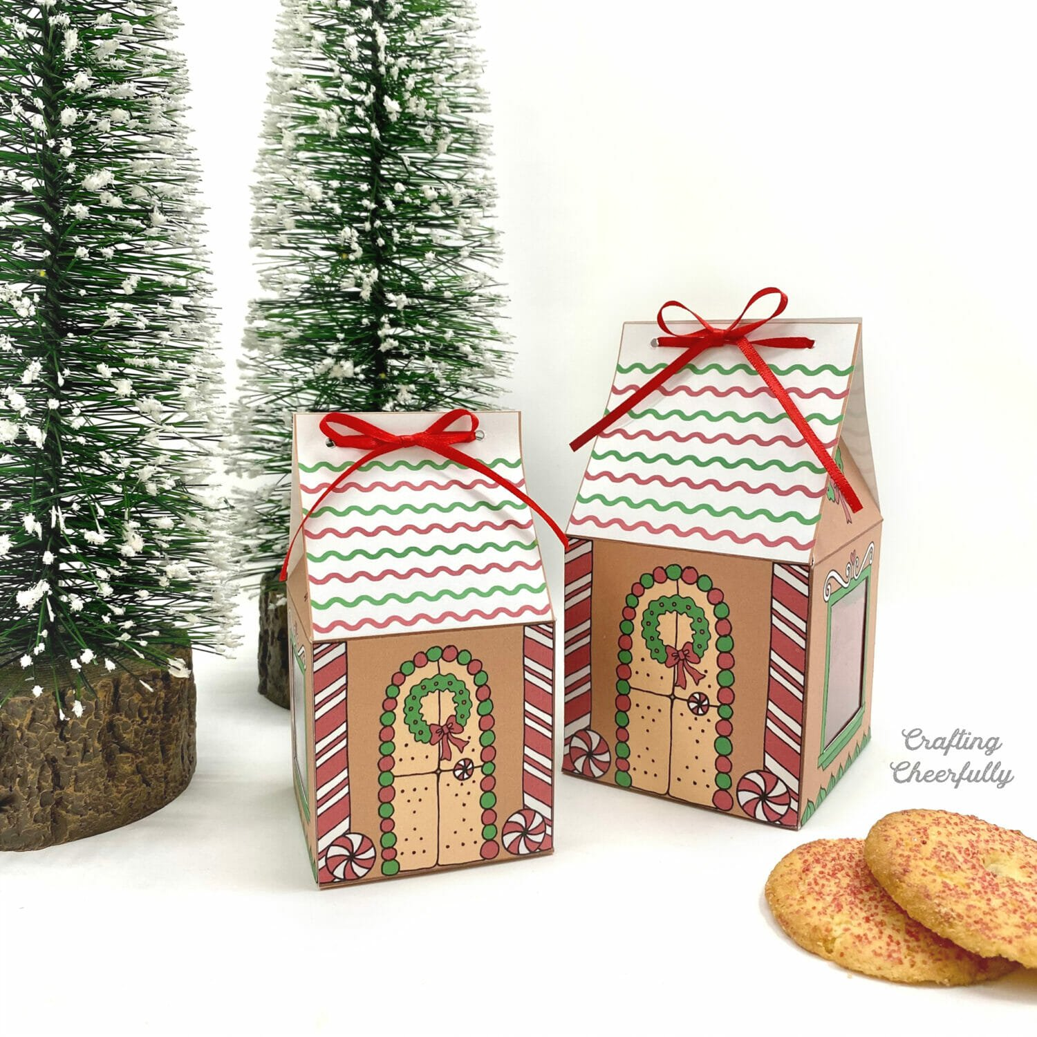 Gingerbread House Treat Boxes – Printable Christmas Boxes