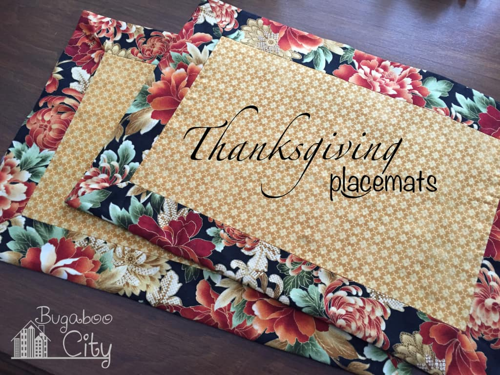 Thanksgiving placemats!