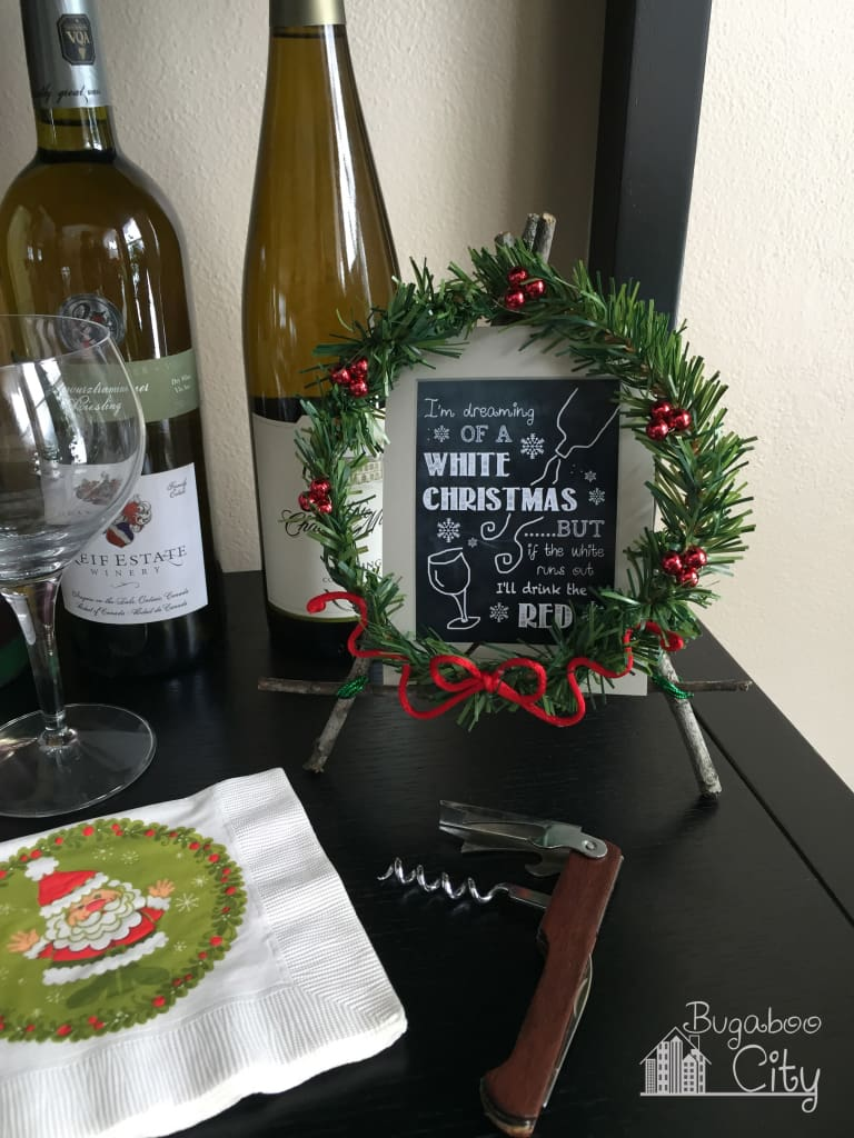Holiday Easel wine bar