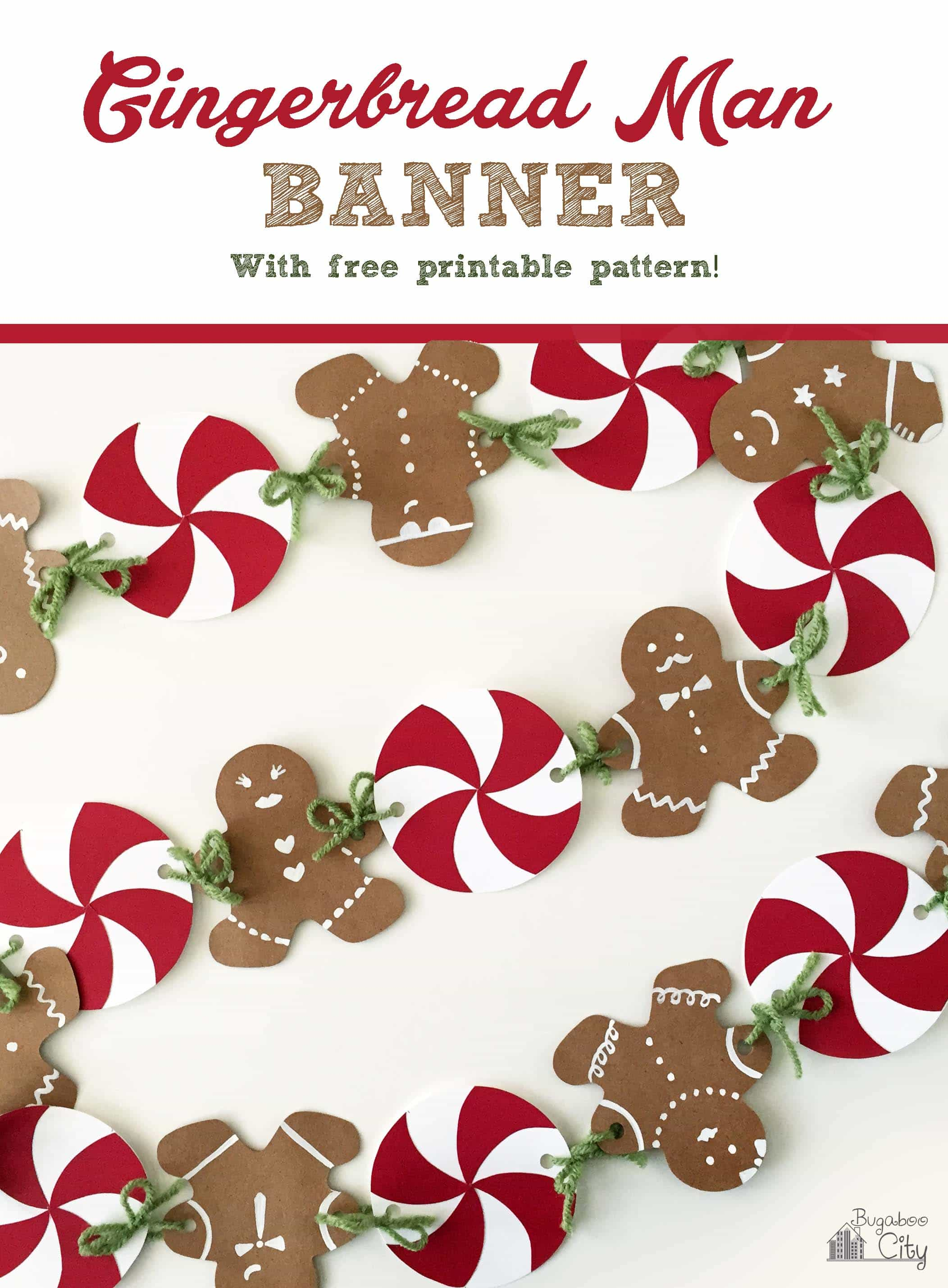 Gingerbread House Party With Gingerbread Man Banner Tutorial Crafting Cheerfully