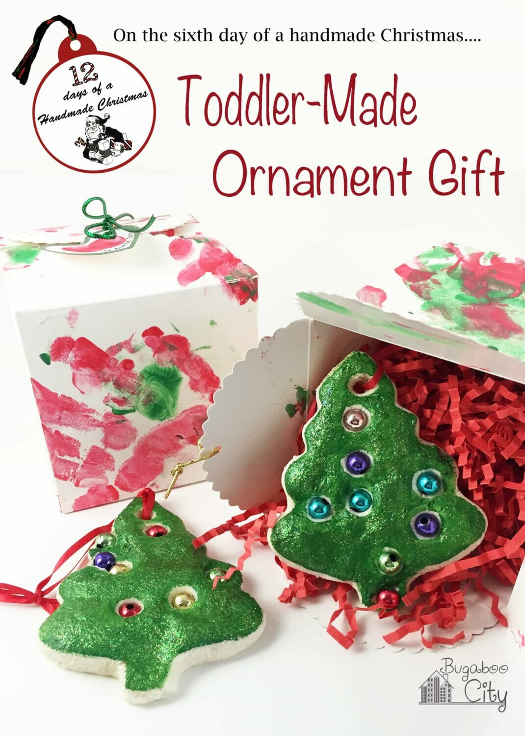 Salt Dough Ornament and Gift Box: A Gift from your Toddler!
