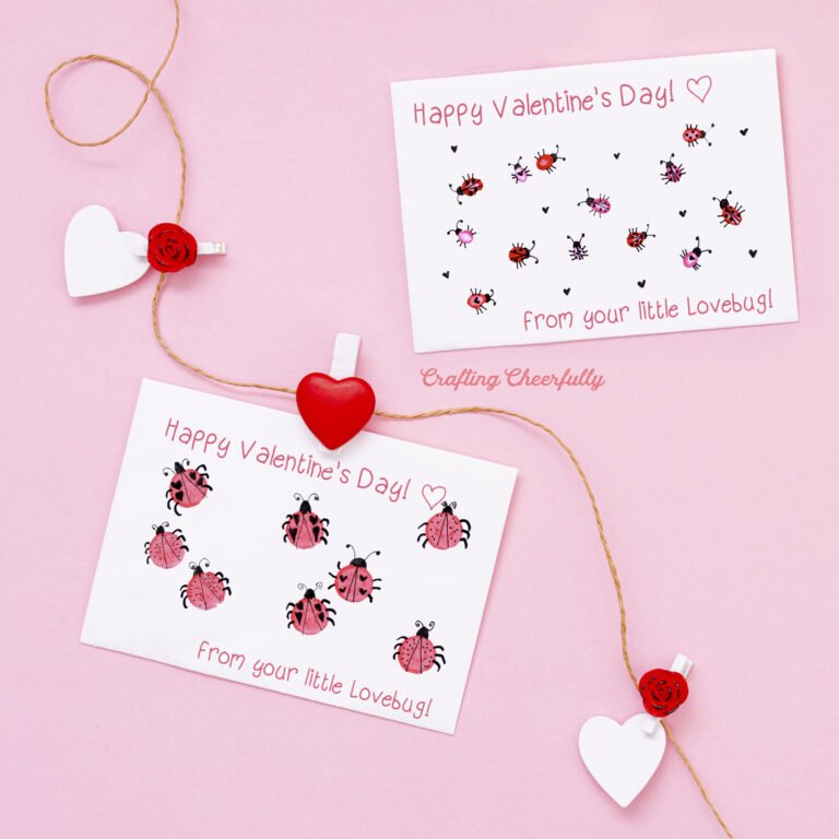 Valentine's Day Craft For Kids – Free Printable!