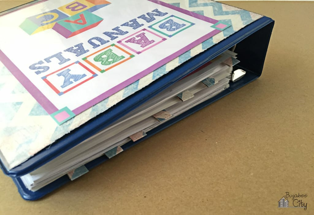 Baby Manuals Binder Free Printables 5