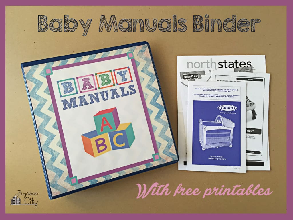 Baby Manuals Binder Printables 11