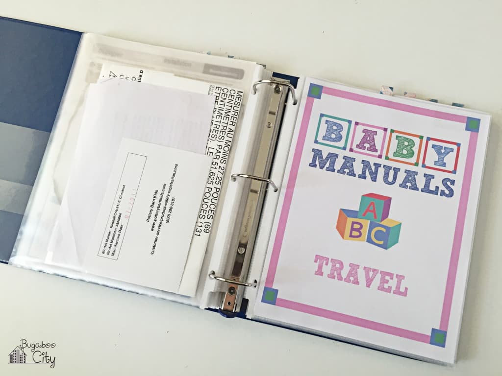 Baby Manuals Binder Printables 7