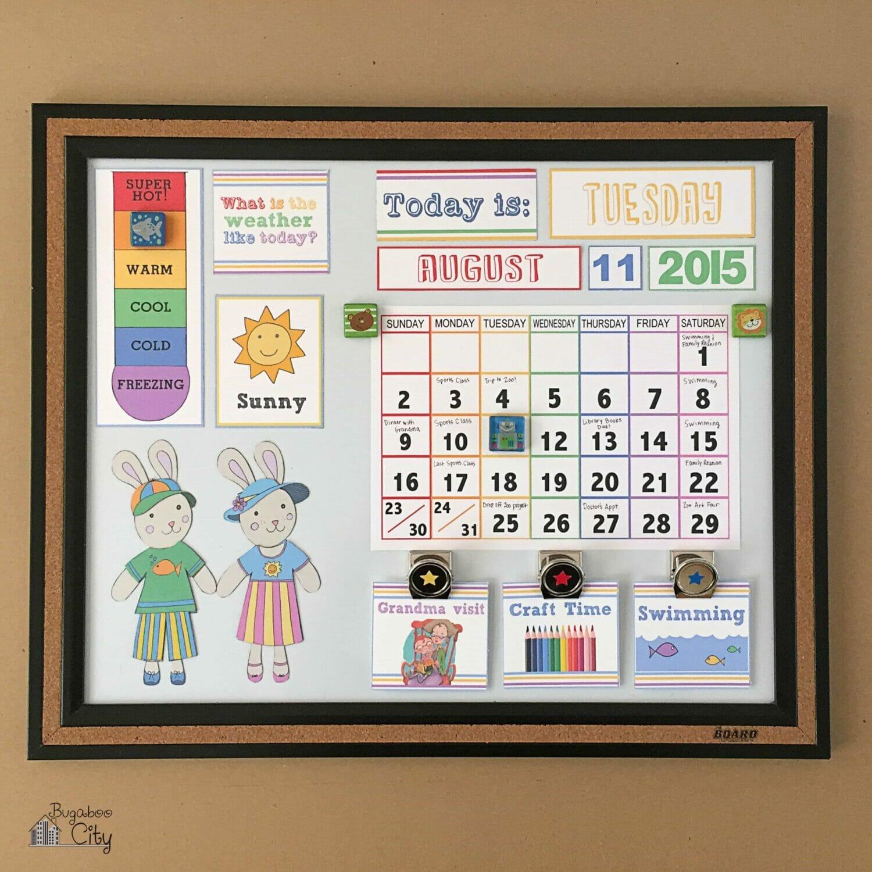 DIY Toddler Calendar – Magnet Board