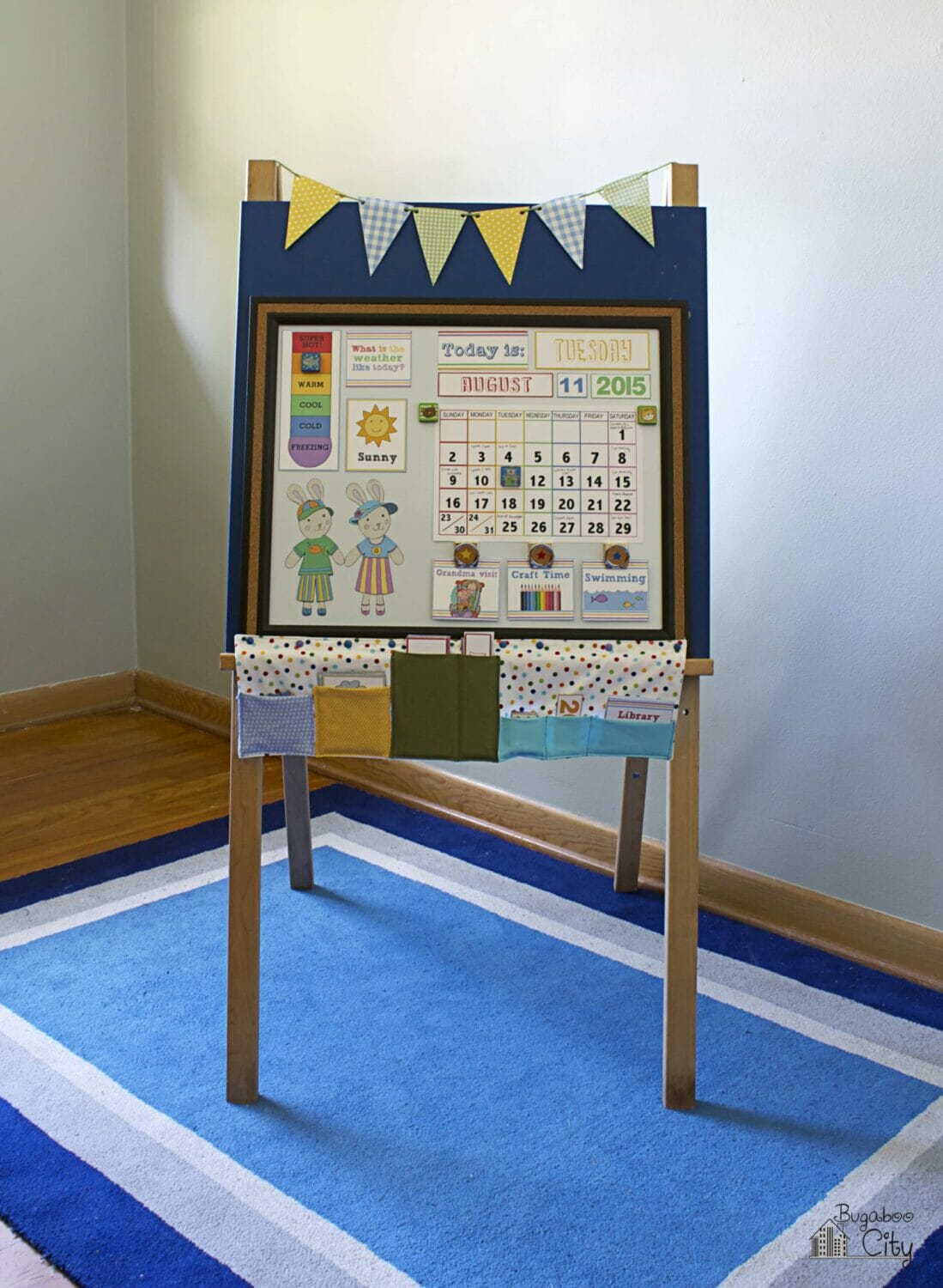 DIY Children's Calendar – Fabric Magnet Holder
