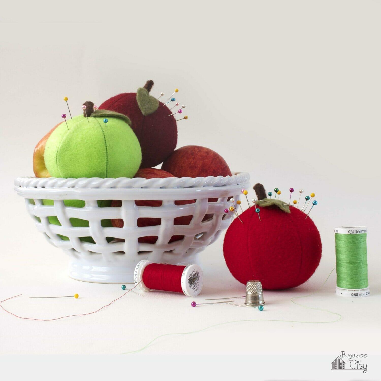 DIY Apple Pincushions
