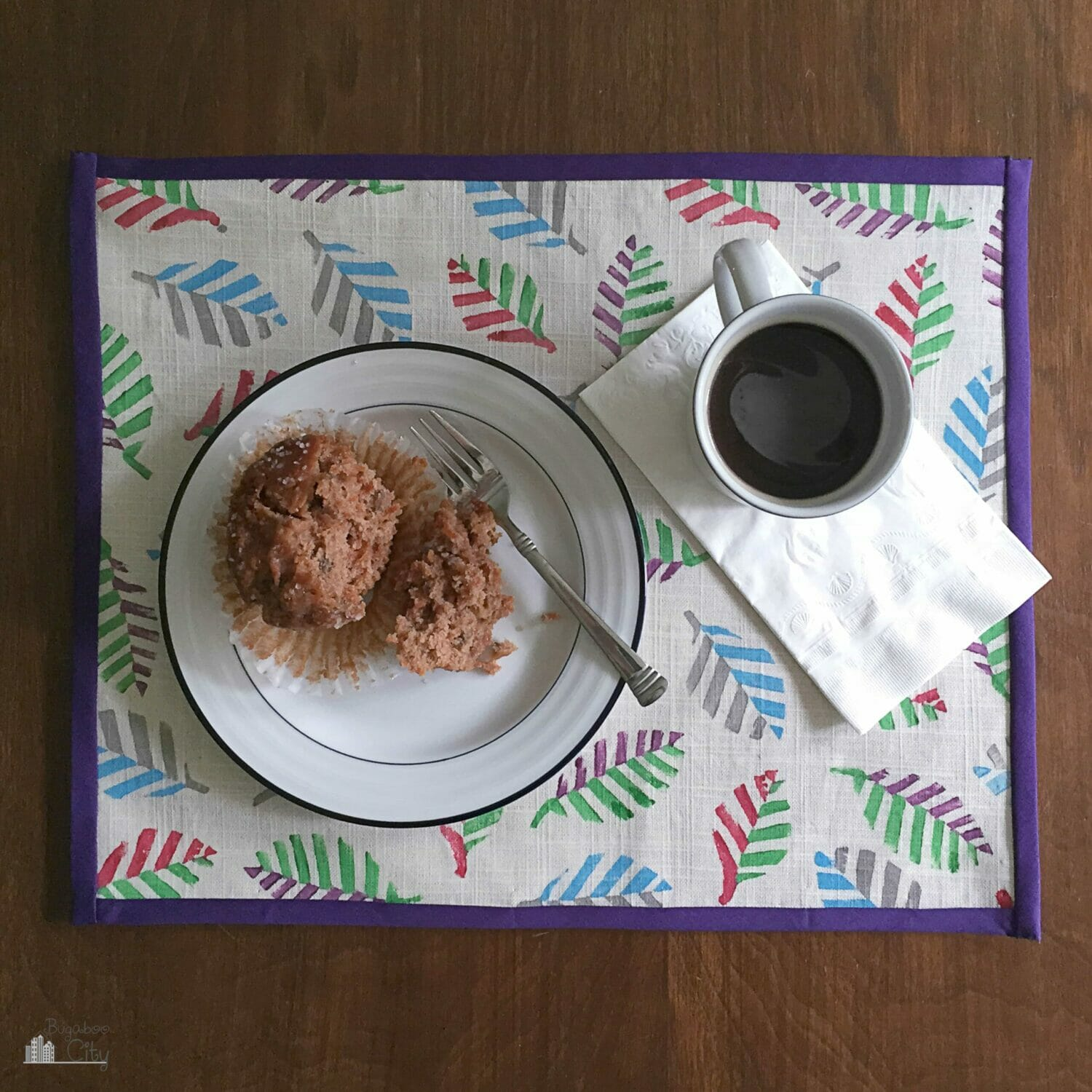 DIY Autumn Placemats using Potato Stamps