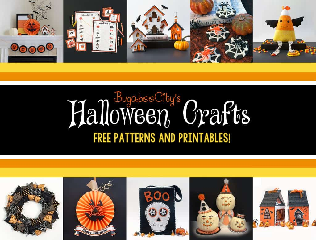 Halloween Crafts with free printables and patterns