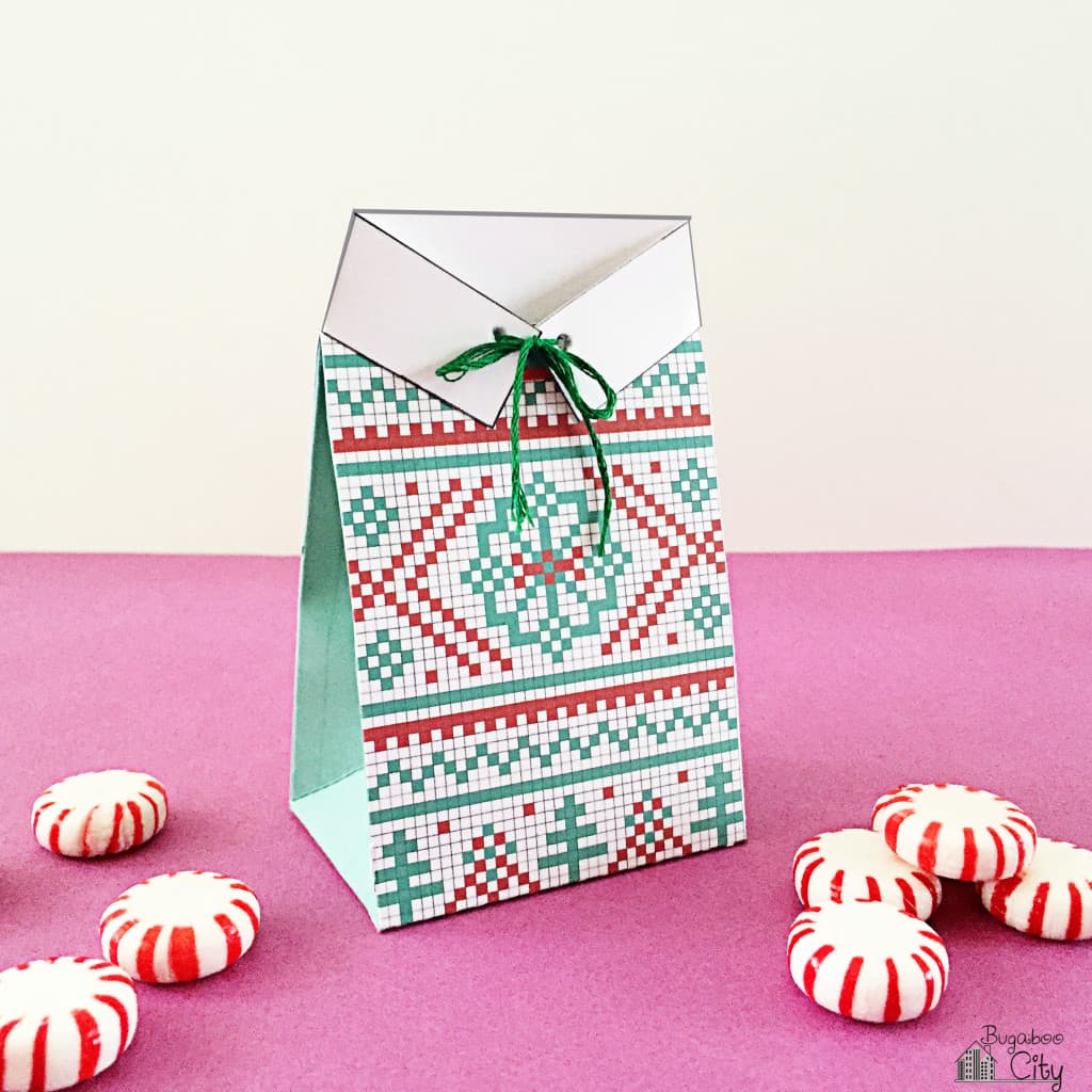 Christmas Sweater Gift Card Treat Bag