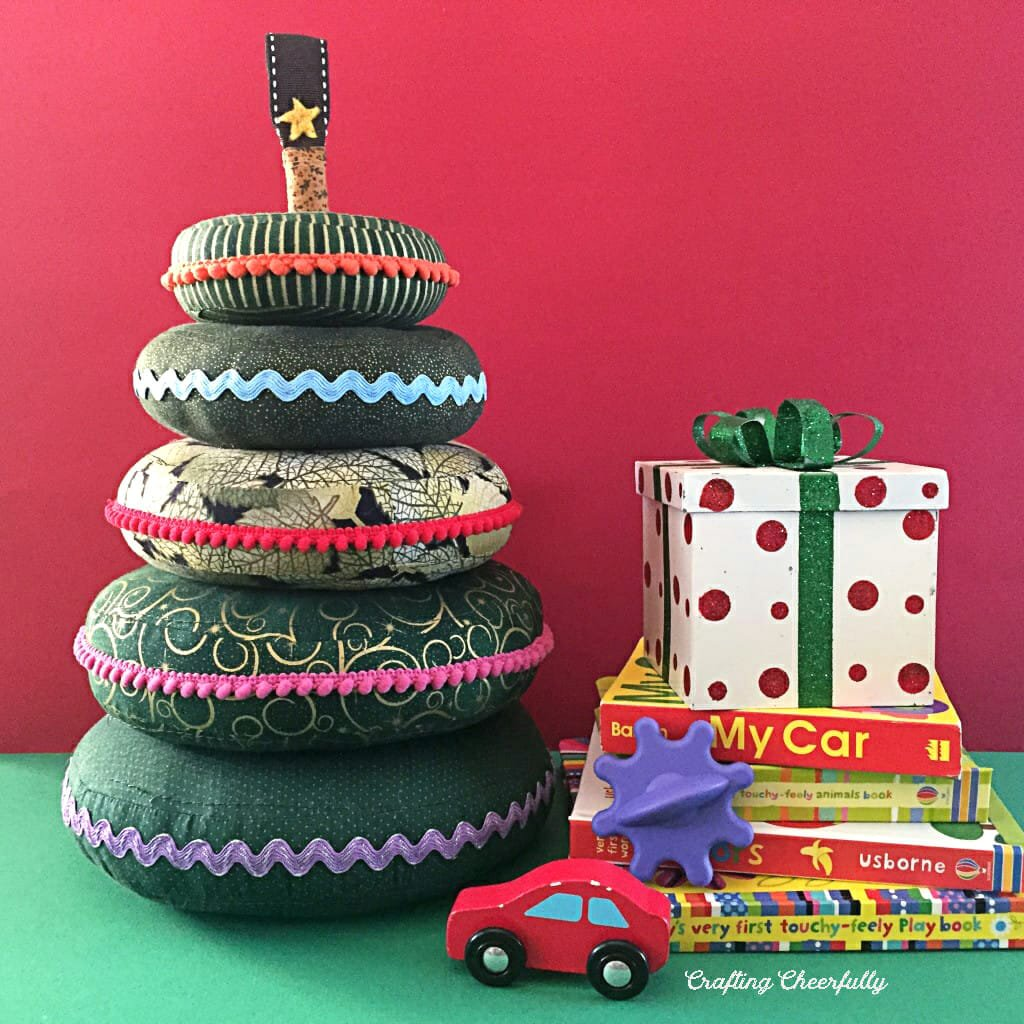 DIY Christmas Tree Stacking Rings – Fabric Baby Toy