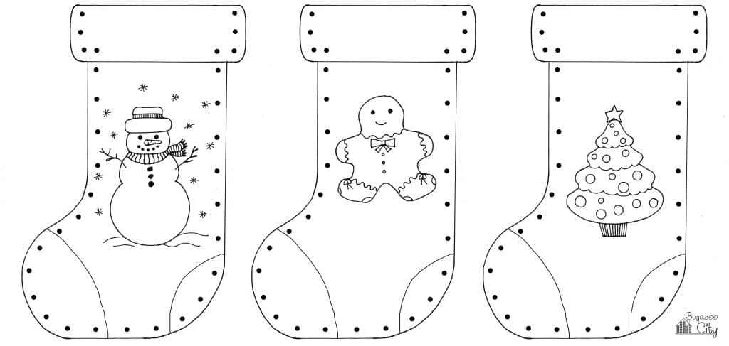 Kid's Christmas Stocking Craft 9