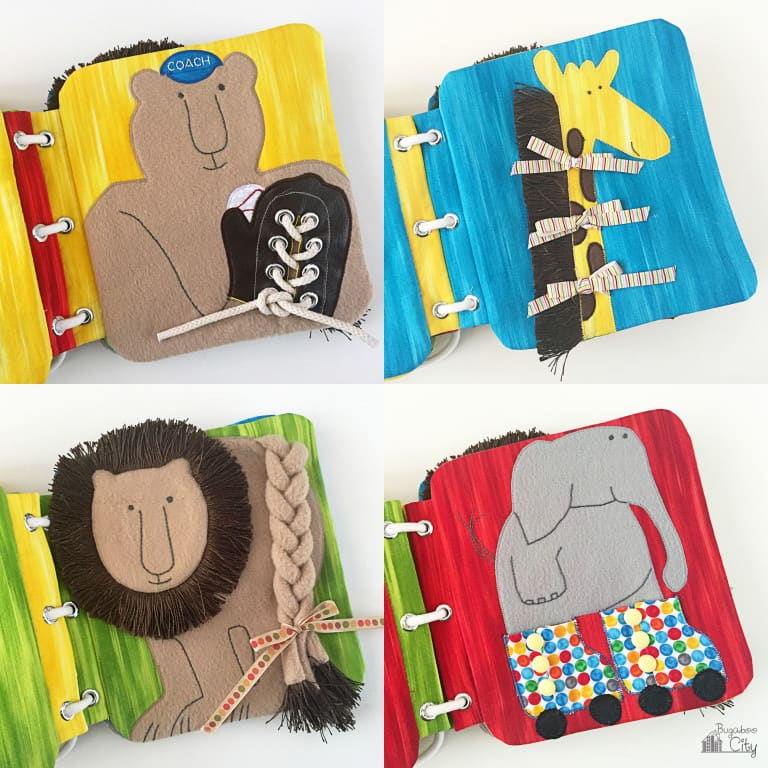 Fabric Quiet Book – It's a Zoo!