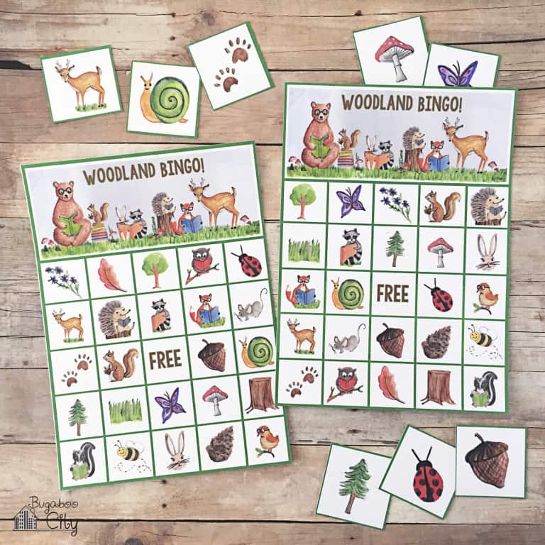 Woodland Bingo – Free Printable Game!