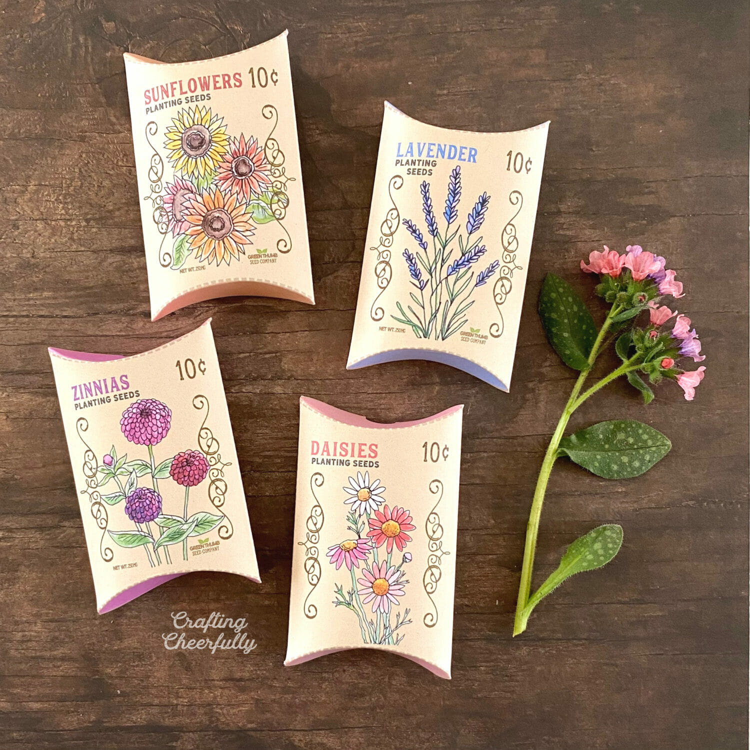Flower Seed Packet Treat Boxes – Free Printable!