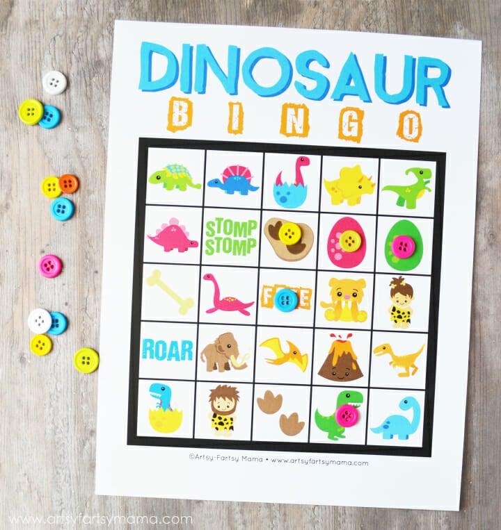 Dinosaur BINGO by Artsy Fartsy Mama
