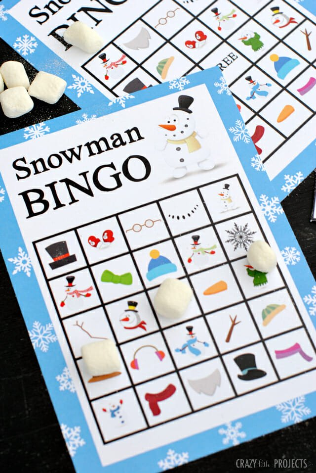 Snowman BINGO from Crazy Little Projects
