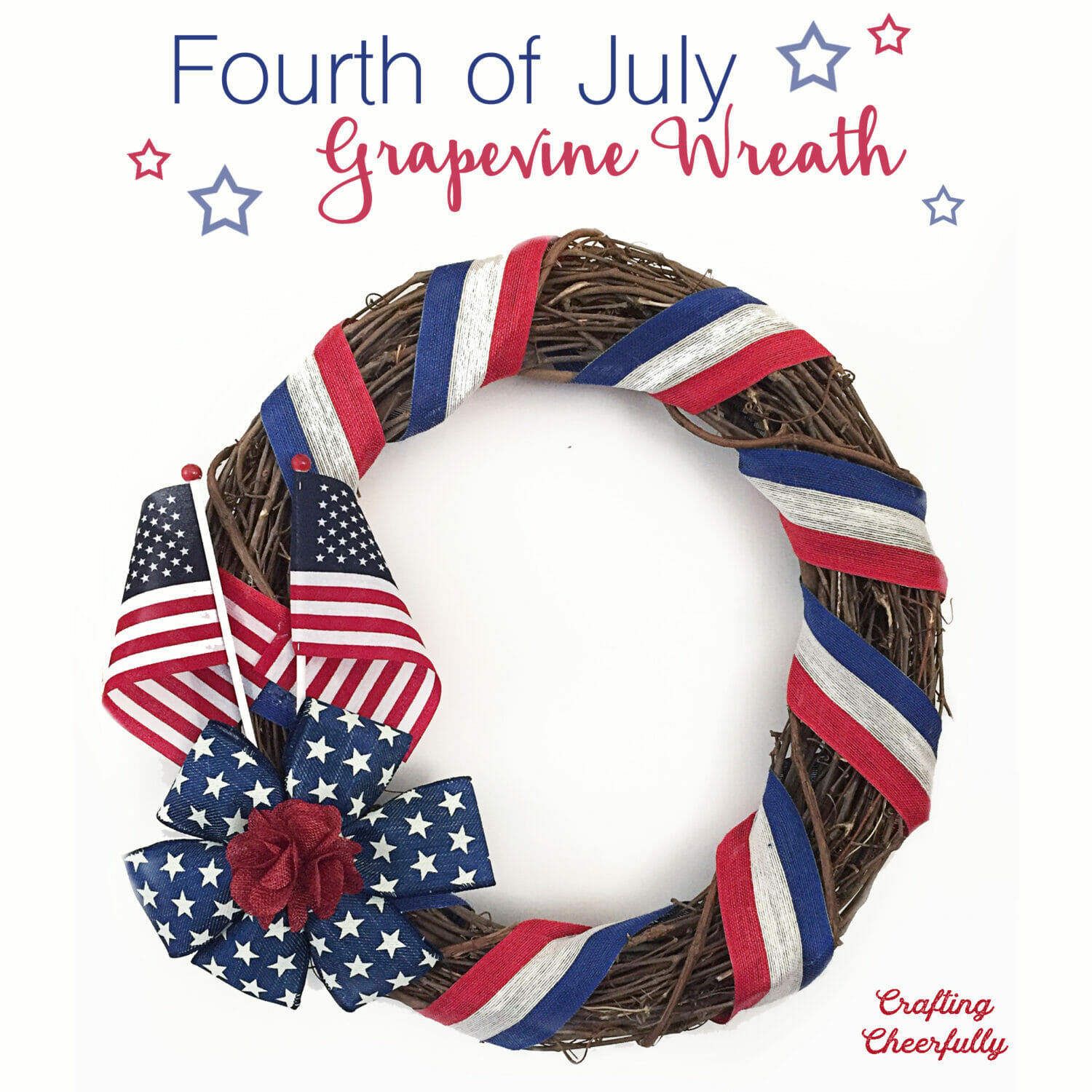 Fourth of July grapevine wreath.