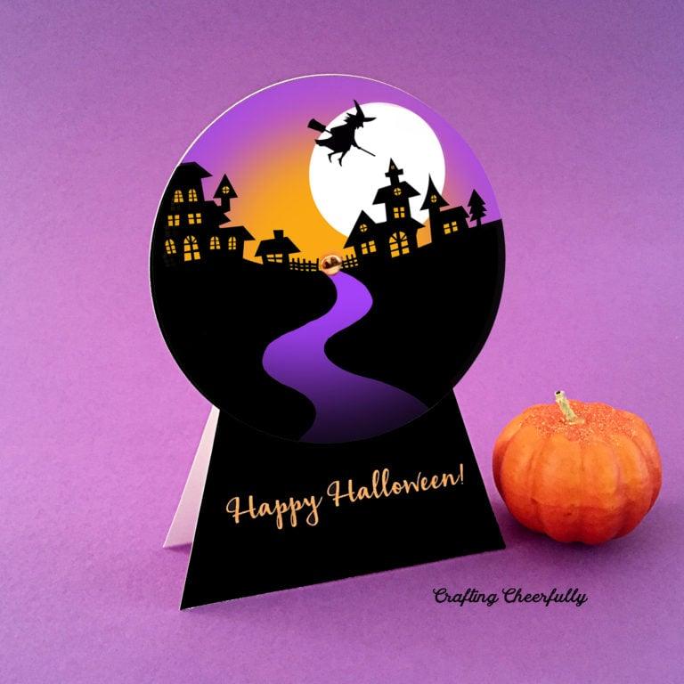 DIY Halloween Snow Globe Card