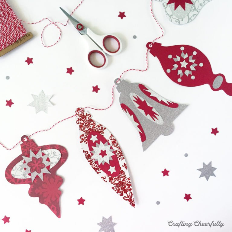 DIY Holiday Ornament Banner