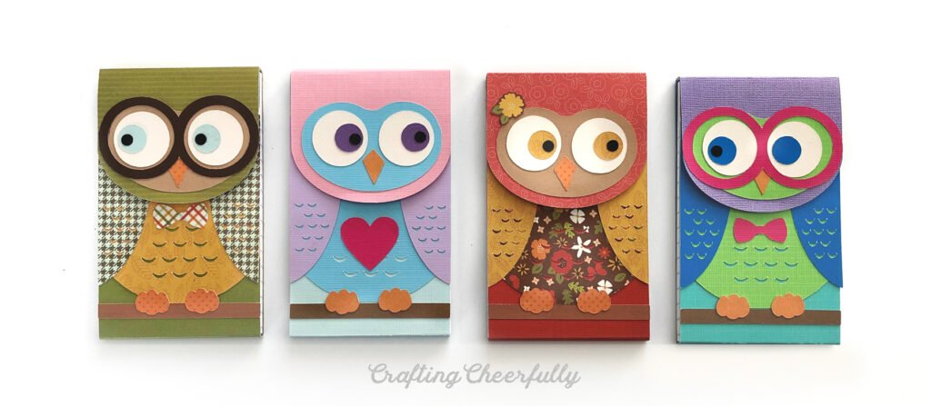 Four owl notepads all in a row!
