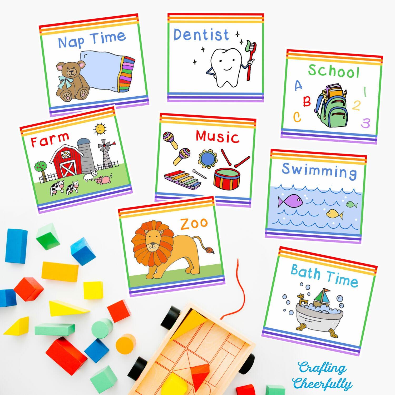Children's Calendar Daily Activity Cards