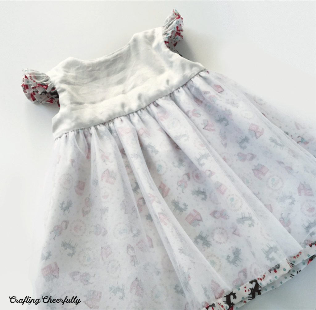 Inside look of Little Red Riding Hood baby dress.