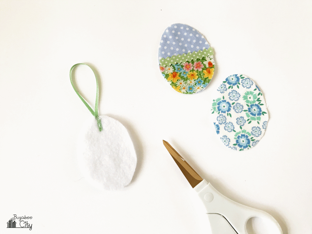 DIY Easter Egg Ornaments from Fabric Scraps