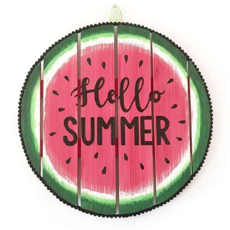 Watermelon Hello Summer Sign