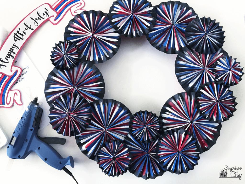 DIY Fourth of July Firework Wreath