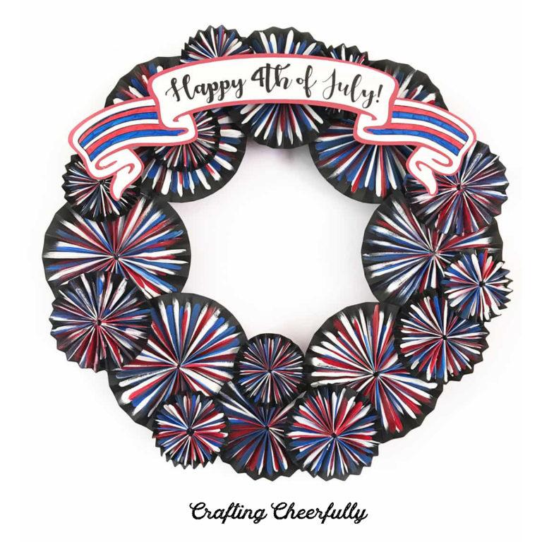 Fourth of July Firework Wreath