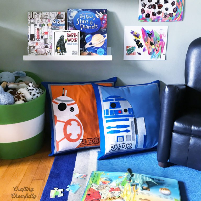 DIY Star Wars Pillows – Felt Applique
