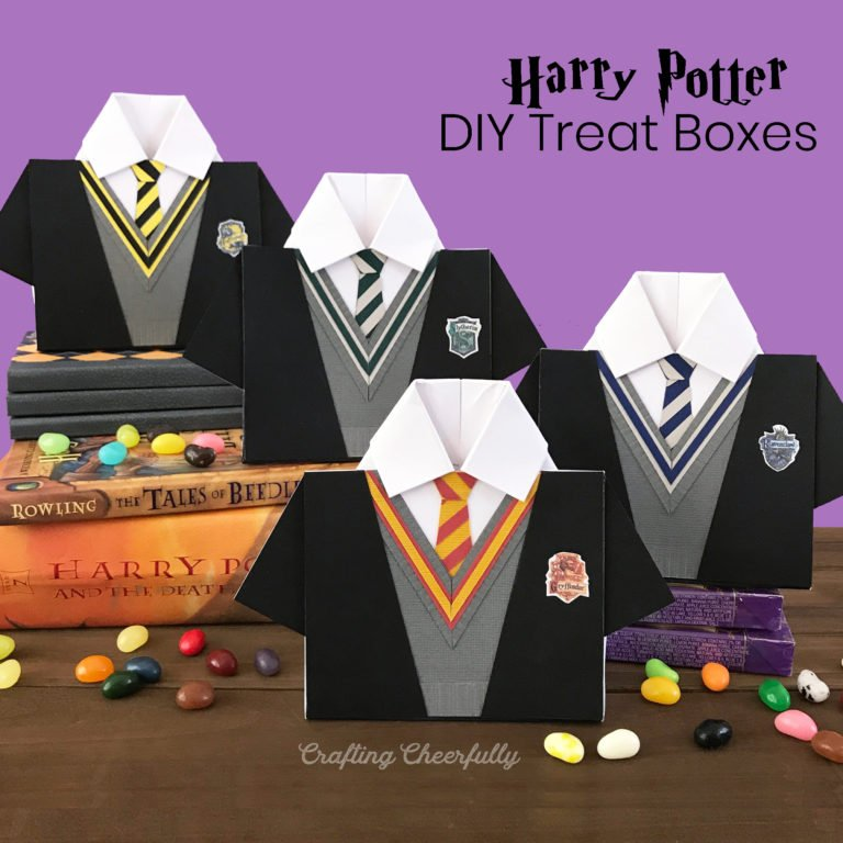 DIY Harry Potter House Treat Boxes