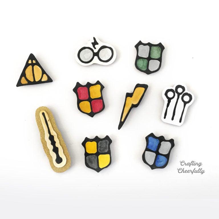 DIY Harry Potter Magnets Using Black Glue