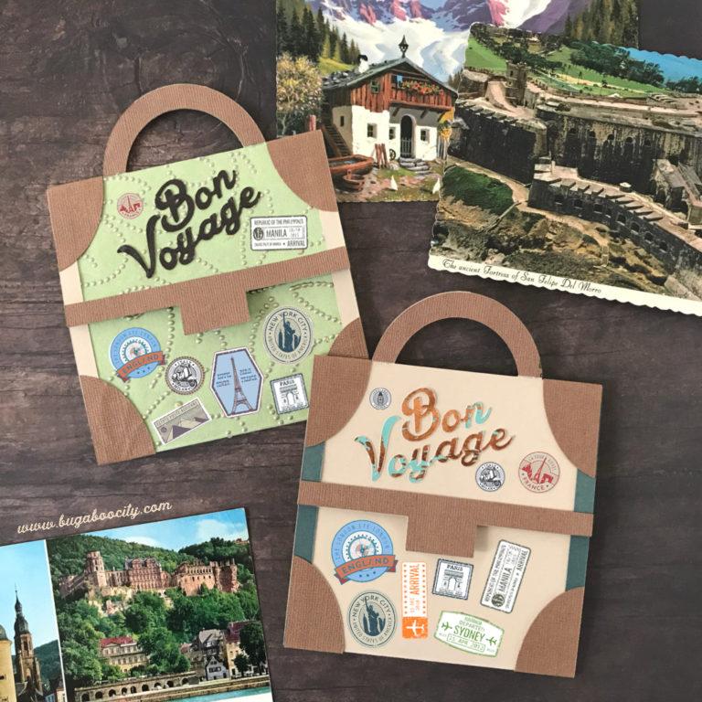Bon Voyage Suitcase Card