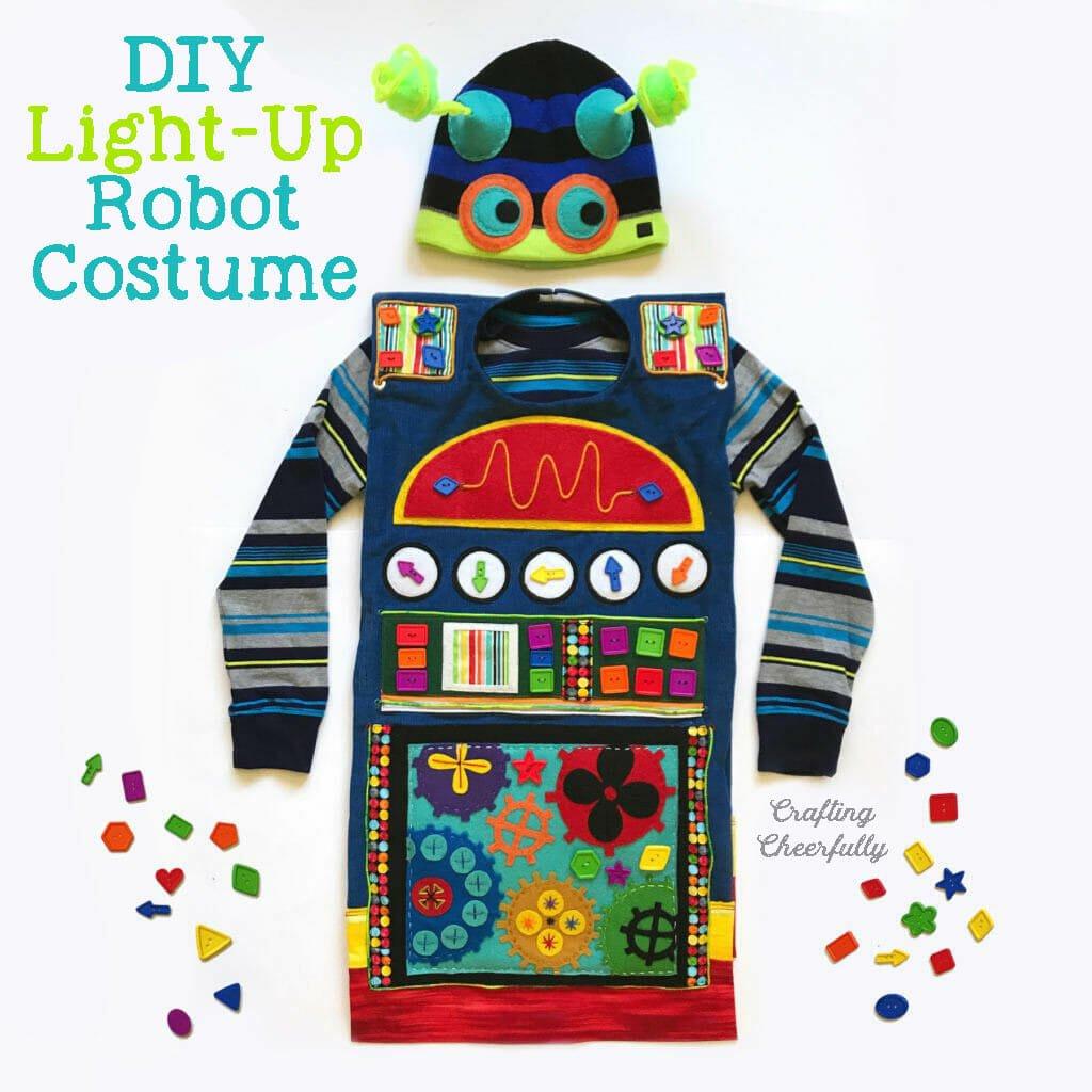 DIY Light-Up Robot Costume