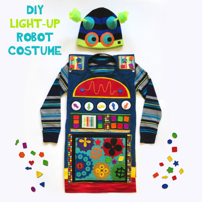 DIY Light-Up Robot Costume
