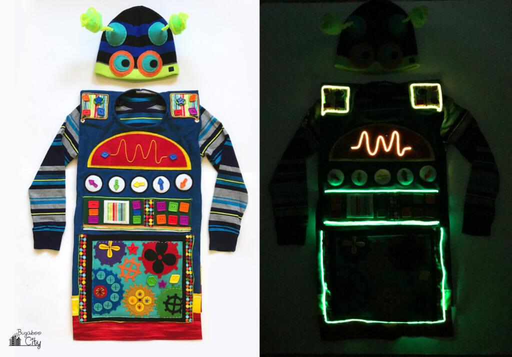 DIY Kid's Halloween Costume - Light Up Robot