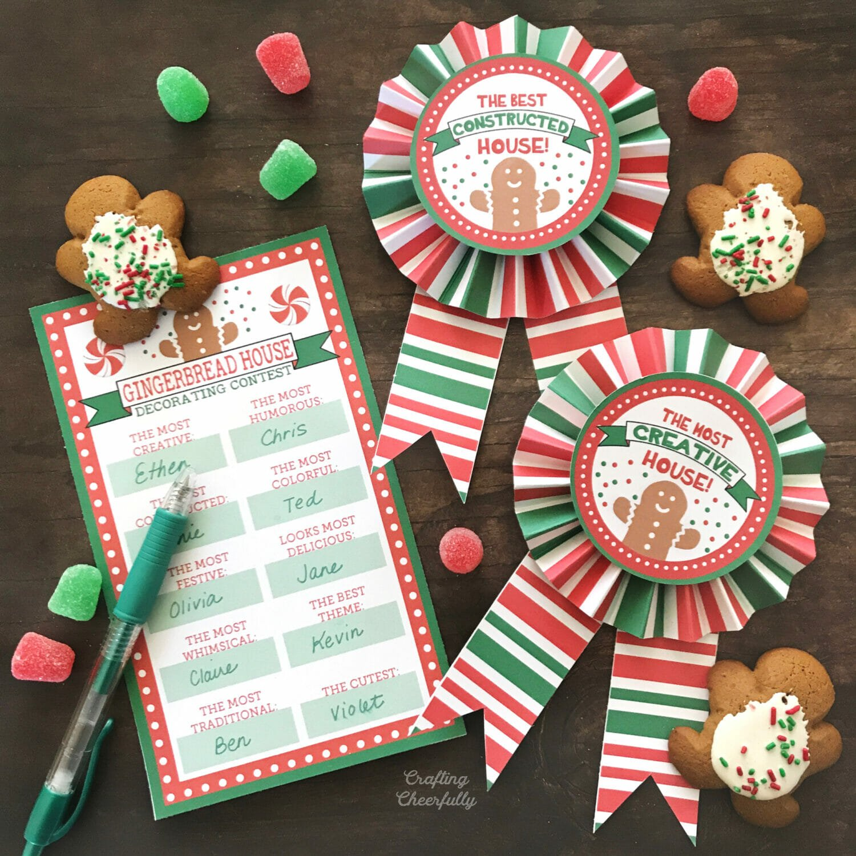 Gingerbread House Award Ribbons – Free Printables