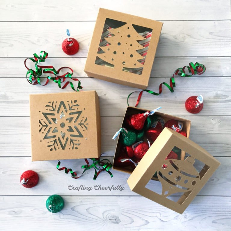 DIY Christmas Boxes with Free Cut File