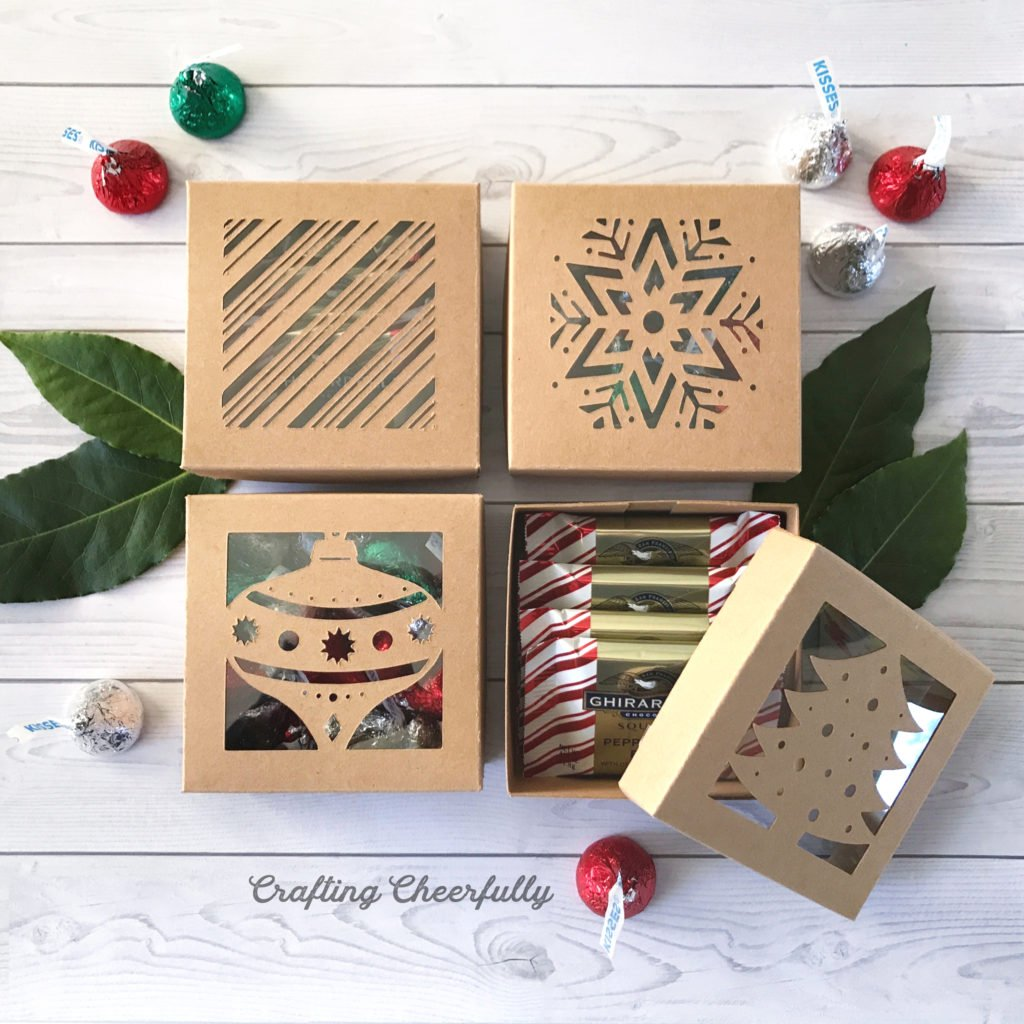 Diy Christmas Boxes With Free Cut File Crafting Cheerfully