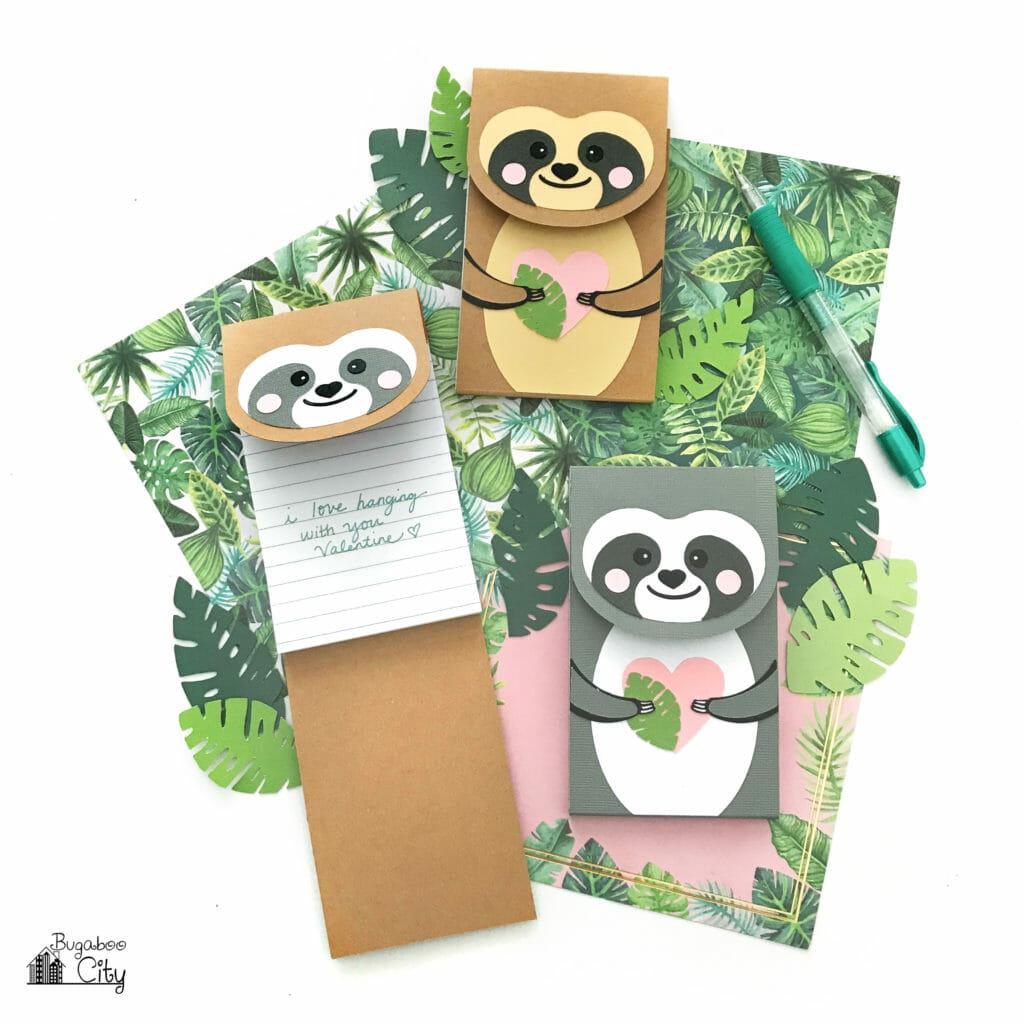 DIY Sloth Notepad Free SVG Cut File
