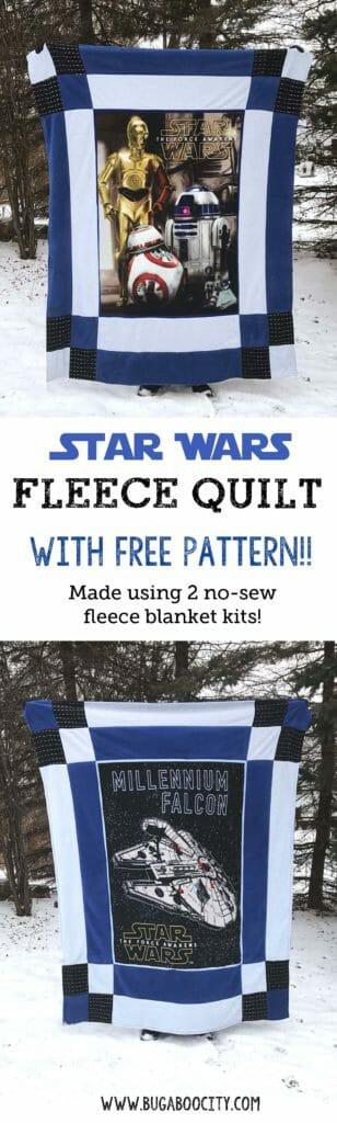 DIY Star Wars Reversible Fleece Quilt with Free Pattern
