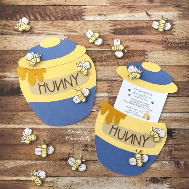 DIY Honey Pot Slider Card and Party Invitation