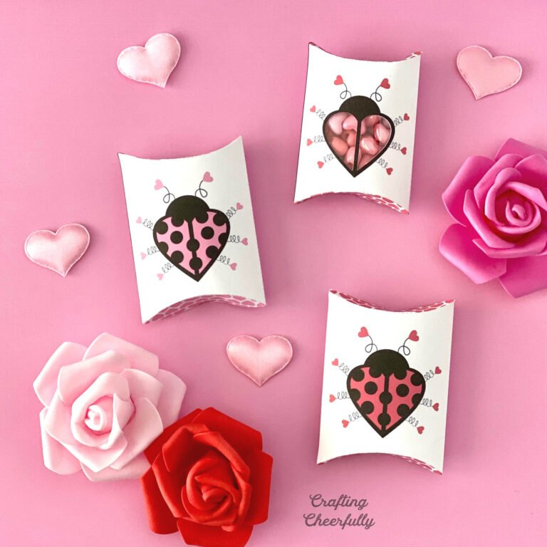 Love Bug Pillow Boxes – Valentine's Day Printables