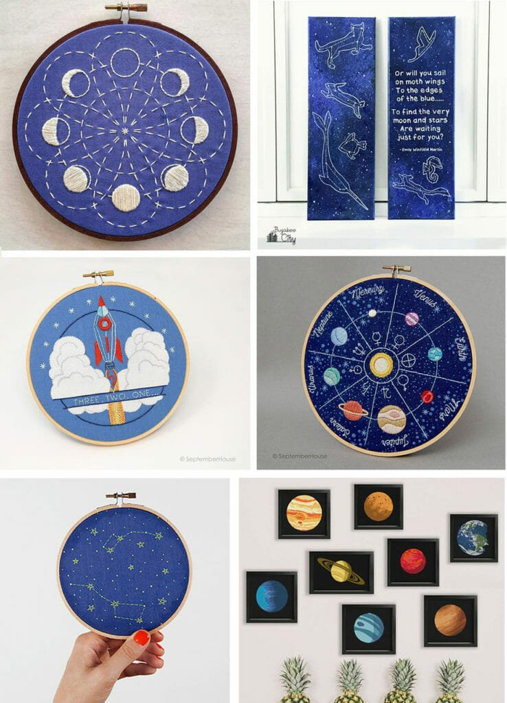 Space-Themed Hand Sewing Patterns Perfect for Kids' Rooms!